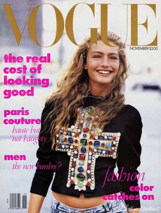 Vogue Cover Carlyne Cerf de Dudzeele