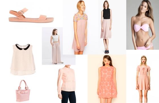 Tendencias de temporada tiendas rosa palo
